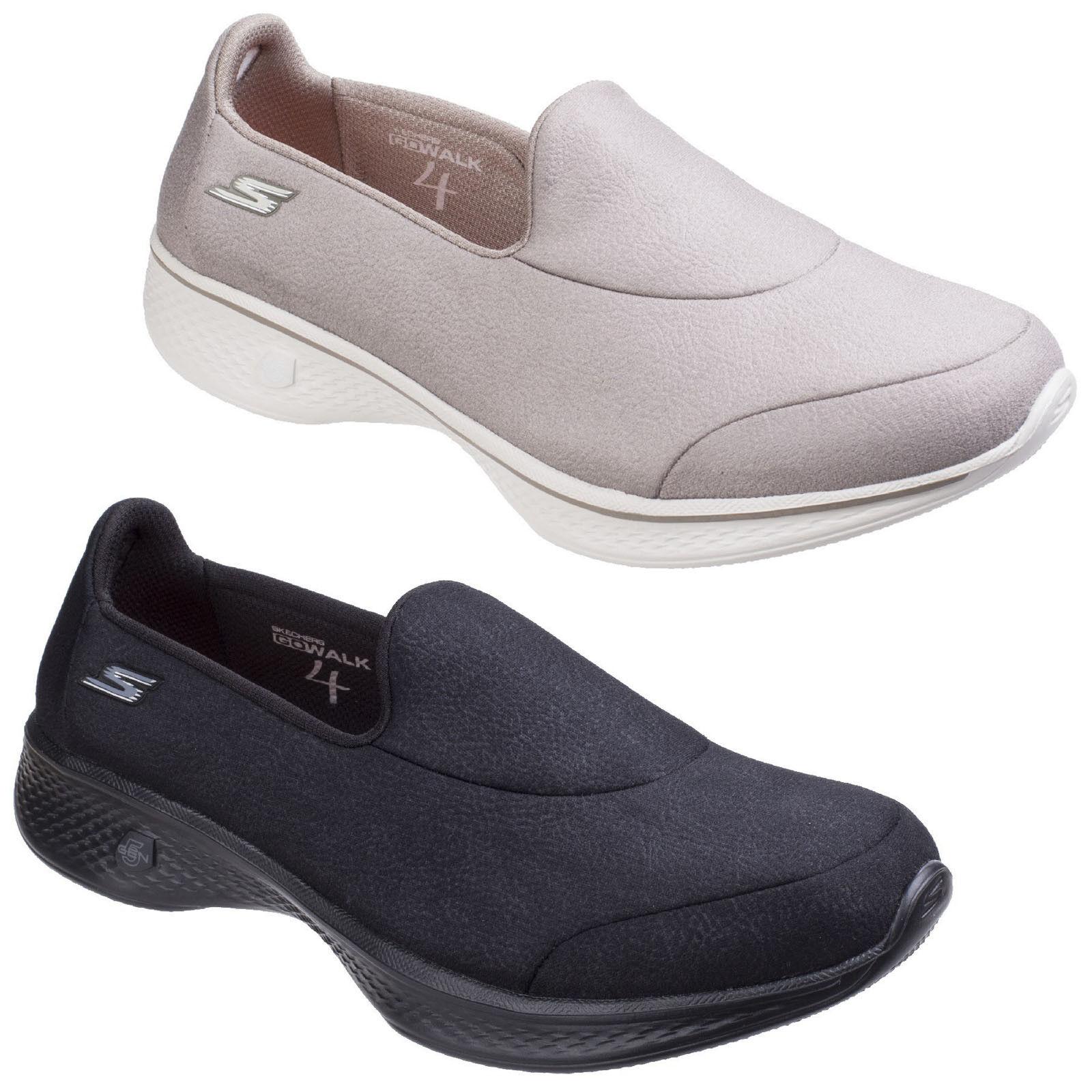 Skechers Go Walk 4 Inspire Trainers Damenschuhe Memory Foam Fashion Sports Schuhes