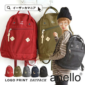 5b77122e3e21 Image is loading Anello-Official-LOGO-Print-Series-Unisex-Fashion-Backpack-