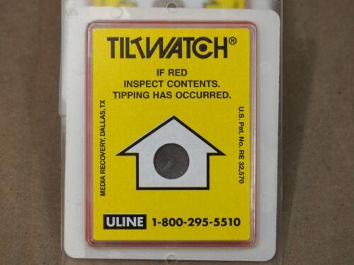 Shock Shipment LTL Tip Over Label TILTWATCH Upright Tipping Monitor Indicator