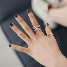 3PCS Stylish Women Finger Knuckle Rings Joint Ring Set Charm Accessories