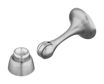 Stanley Satin Nickel Magnetic Door Stop Floor or Wall Mount Holds Door Open
