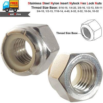 25 1//4-20 Coarse Thread Grade 8 Nylon Insert Hex Lock Stop Nut Plain 1//4 x 20