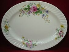 """ROYAL DOULTON china ARCADIA H4802 brown stamp OVAL MEAT Serving PLATTER 16-1/4"""""""