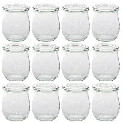 Deckel Einmachglas 12x Weck Einweckglas Einkochglas Tulpe 220 ml Gläser Glas