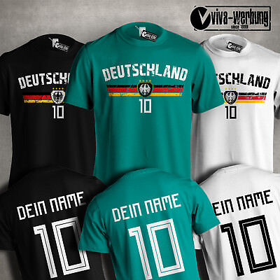 mit Name /& Zahl 2018 T-Shirt Weltmeister all nations Fußball Fan WM Trikot