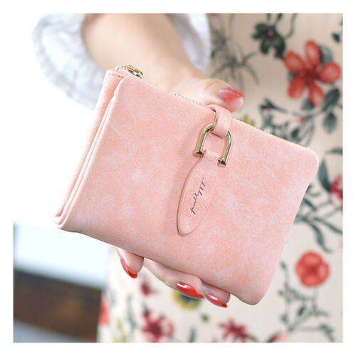 Women Lady Leather Short Wallet Organizer Pocket Small Credit Card Holder Purse
