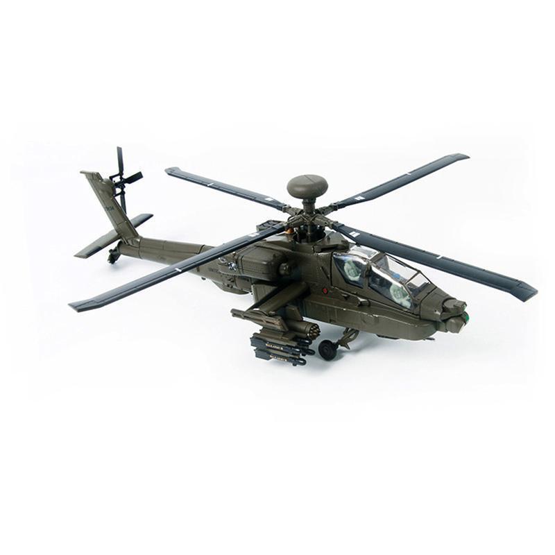 Apache Attack helicóptero avión estática de regalo de metal de 1 72 Modelo De Montaje Kit