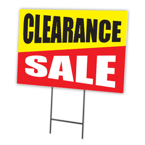 CLEARANCE SALE FULL COLOR DOUBLE SIDED SIGN