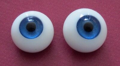 PROMO yeux bleu 20mm en verre Jumeau®-poupée ancienne//moderne-doll glass eyes