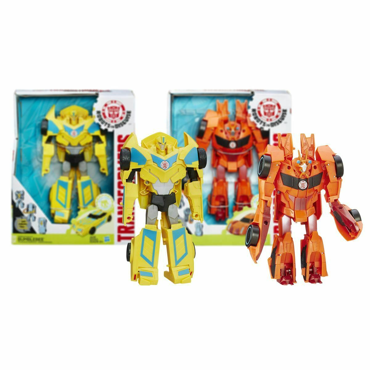 New Transformers Robots In Disguise 3-Step Bumblebee Or Bisk Figure Official