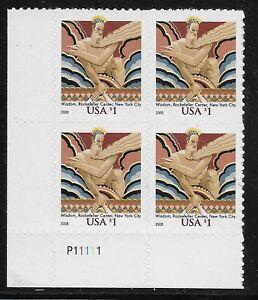US-Scott-3766a-Placa-Bloque-P11111-2008-Wisdom-VF-MNH-Inferior-Izquierdo
