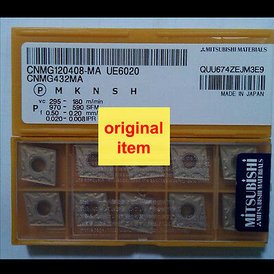 1 Box Of 10  Mitsubishi Carbide Inserts CNMG 432 MA  UE6020