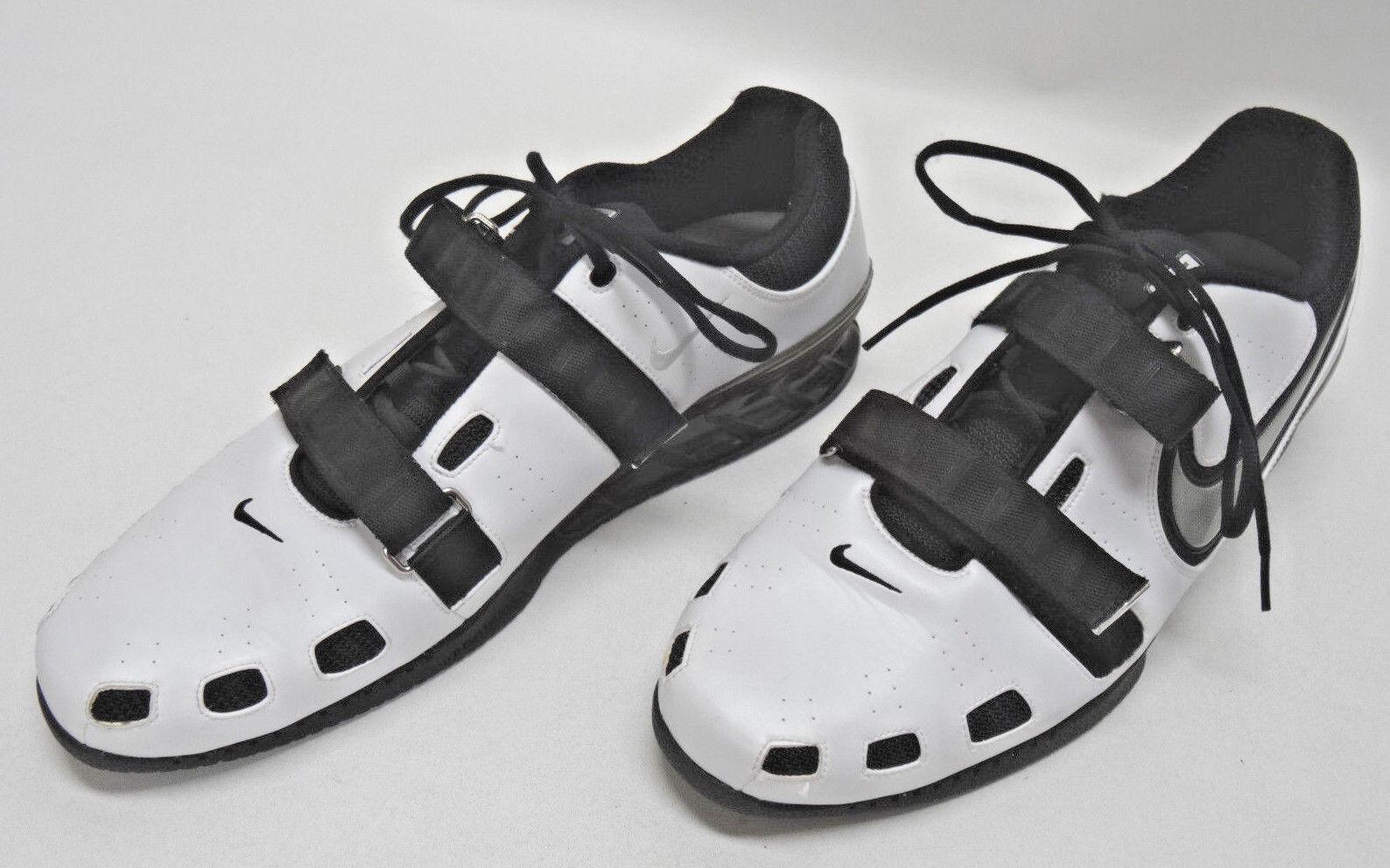 Nike romaleos sollevamento pesi scarpe nero / bianco 17uk Uomo dimensioni 18us / 17uk bianco / 52.5euc 0a54ef