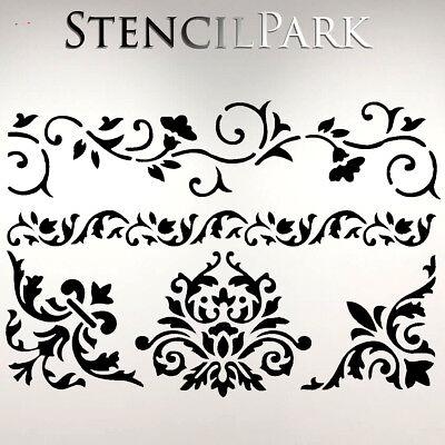 A5 A4 A3 Reusable Thick Craft Stencil Furniture Walls Star 069