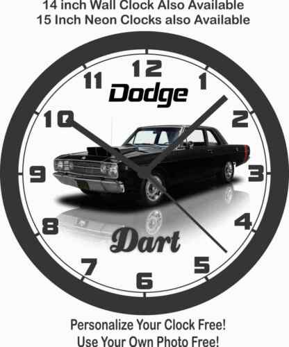 1968 DODGE DART BLACK WALL CLOCK-NEW!-Free USA Ship