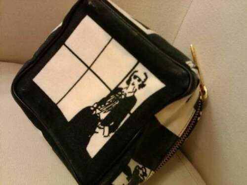CHANEL Windows Line Cosmetic Bag Pouch