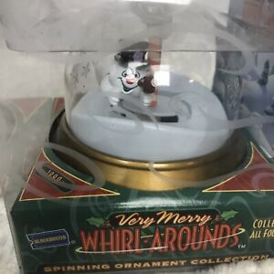 1999-Blockbuster-Very-Merry-Whirl-Arounds-Spinning-Ornament-Frosty-the-Snowman