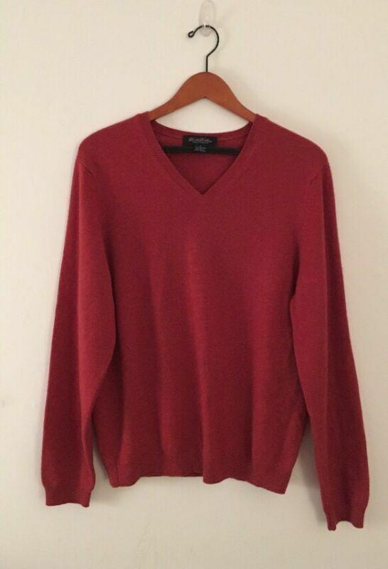 Brooks Brothers männer's schweißer 100% Cashmere Sz klein. Knitted In Great Britain