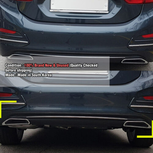 Rear Bumper Diffuser Guard With Chrome Point for CHEVROLET 2017-18 All New Cruze