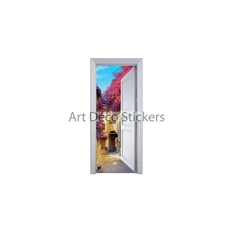 Adhesivo Puerta Trompa Trampantojo Pueblo 90x200cm 9114 Prestashop-5568