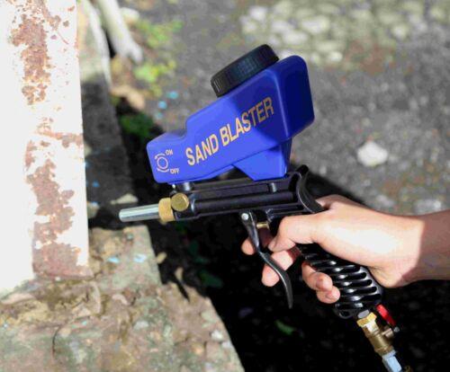 DHL Ship LEMATEC Sandblaster Gun Media Air Speed Blaster Portable Handhold Tools