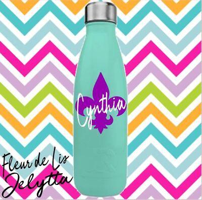 Fleur De Lis Decal for Yeti Tumbler water bottle