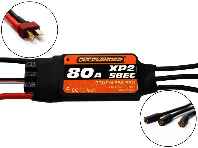 Overlander XP2 80A SBEC Brushless ESC - RTF Speed Controller