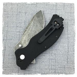 Black Titanium Deep Carry Pocket Clip Made for Zero Tolerance ZT0452CF