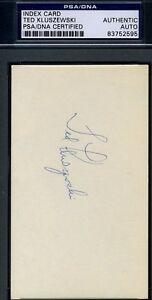 Ted Kluszewski Psa/dna Authentic Signed 3x5 Index Card Autograph