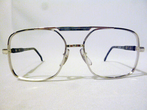 Vintage Regency Eyewear LN Silver 55//20 Navigator Eyeglass Frame New Old Stock