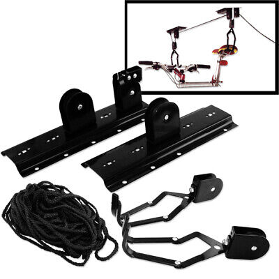 Ceiling Mounted Bicycle Rack Lift Bike Hanger Pulley Stand Storage Systems