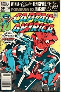 MARVEL-COMICS-CAPTAIN-AMERICA-263-F-NOV-039-81-THE-RED-SKULL-AND-AMERIDROID-APP