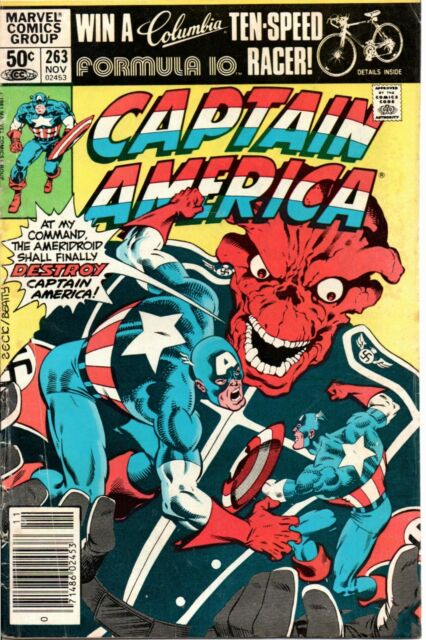 MARVEL COMICS CAPTAIN AMERICA # 263 F+ NOV '81 THE RED SKULL AND AMERIDROID APP.
