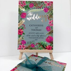 GOLD-FOIL-EMERALD-GREEN-TROPICAL-wedding-invitation-package-with-envelopes