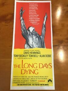 Original-Movie-Poster-13x30-The-Long-Day-039-s-Dying-1968-David-Hemmings