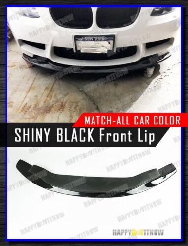 08-13 PAINTED GLOSSY BLACK BMW E92 E93 M3 MODEL USE GTS DESIGN FRONT BUMPER LIP