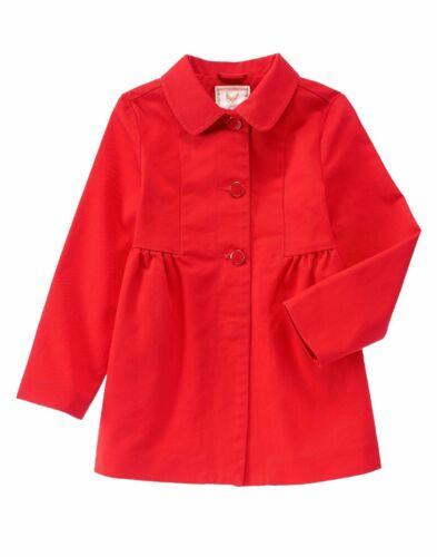 NEW GYMBOREE Girls size Small 5-6 S Medium 7-8 M Poppy Red Peacoat Coat Winter
