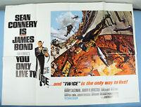 You Only Live Twice British Quad Original 1967 James Bond 007 Volcano Mint