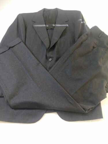 41R 1980/'s Oxxford Clothes Heritage Gray Checked Worsted Wool 2 Button 2 Pc Suit Size