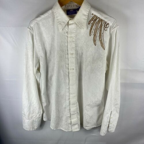 NEW Jimi Hendrix button-up shirt Rock Psychedelic rock Hard rock Blues Men/'s size M