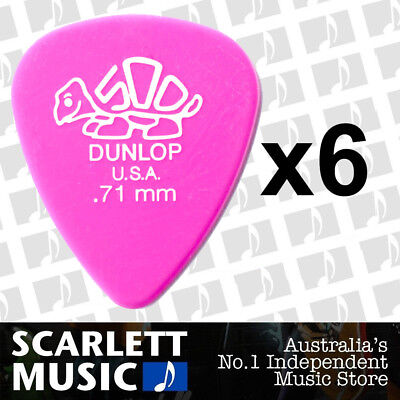 12 Pack .71mm Gauge Jim Dunlop Delrin Guitar Picks