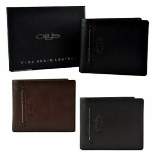 Mens-Fine-Grain-Classic-LEATHER-Wallet-by-OLLY-039-s-Banks-Collection-Gift-Boxed