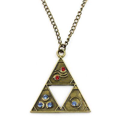 a2a9655c917d5 The Legend of Zelda Triforce Necklace Pendant Chain Jewelry Bronze  711091840559 | eBay