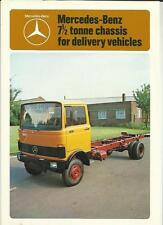 MERCEDES BENZ LP809  7.5 TON CHASSIS DELIVERY VEHICLES TRUCK LORRY BROCHURE 1978