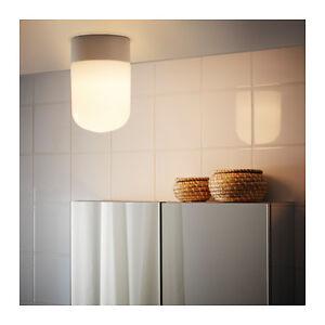 Detalles de Nuevo cuarto de baño lámpara techo/pared Ikea Blanco östanå  (Ostana)- ver título original