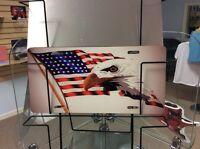 U.S. FLAG & EAGLE  Novelty Vanity License Plate, USA Made