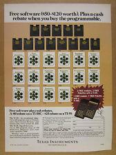 1981 Texas Instruments TI 58C 59 Calculators modules pakettes vintage print Ad