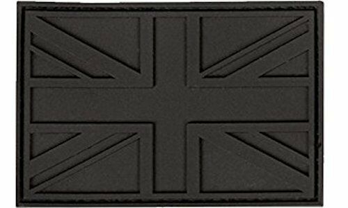 UK Union Jack Flag PVC Stealth Patch Black