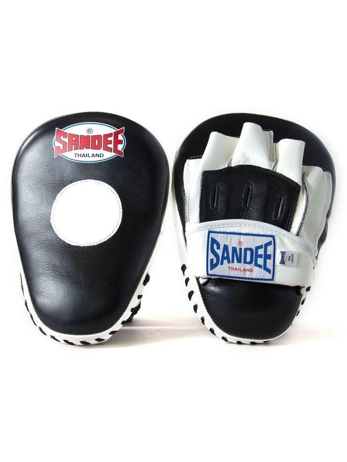 Sandee Concentrazione Curvo Guantone Boxe pelle Boxe Guantone Punch Panno Mma Allenamento cd1644