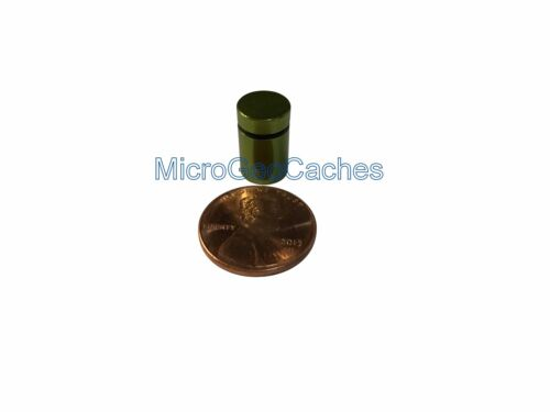 30 60 or 100 Super Small Micro//Nano Green Magnetic Geocaching Containers Tubes